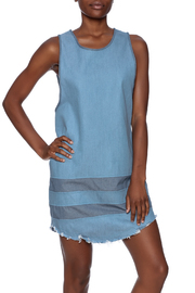 Nobody's Buziness Denim Dress - Front cropped
