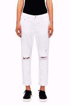 Shoptiques Product: White Distressed Jean