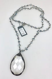 Nobrand Blue Crystal Necklace - Front full body