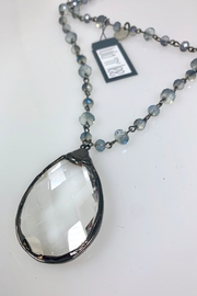 Nobrand Blue Crystal Necklace - Side cropped