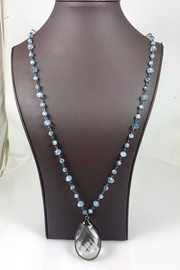 Nobrand Blue Crystal Necklace - Front cropped