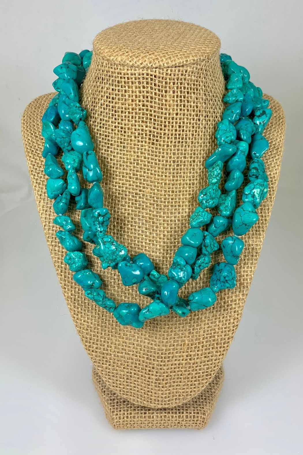 Nobrand Three-Strand Turquoise Necklace - Front Cropped Image