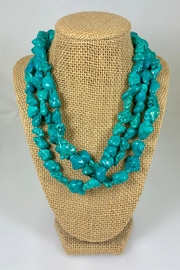 Nobrand Three-Strand Turquoise Necklace - Product Mini Image