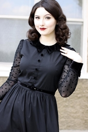 Retrolicious Nocturnal Swing Dress - Front full body