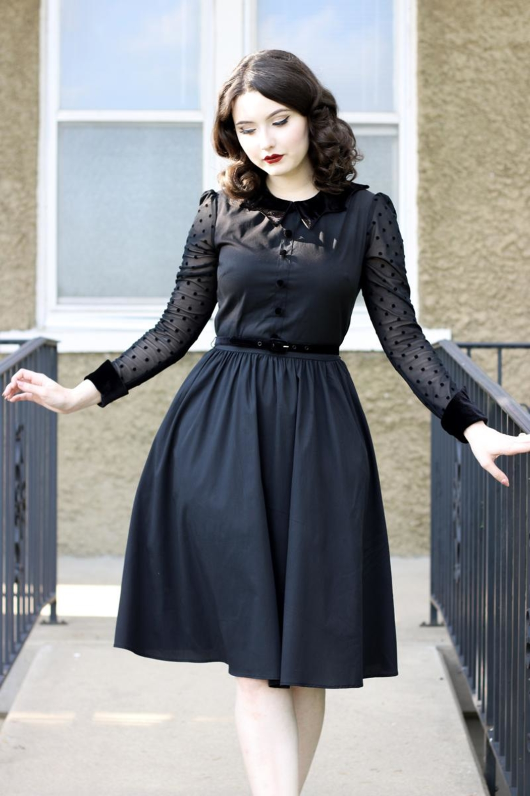 Retrolicious Nocturnal Swing Dress - Main Image