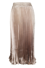 Lucy Paris  Noelle Pleated Midi Skirt - Product Mini Image