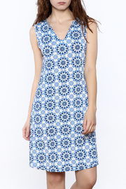 Noelle Blue Summer Knee Dress - Product Mini Image
