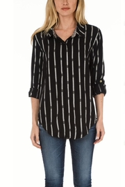 Tolani Noir Plaid Top - Product Mini Image
