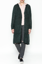 Noisy May Long Green Cardigan - Product Mini Image