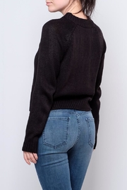 Noisy May Cropped Cableknit Sweater - Side cropped