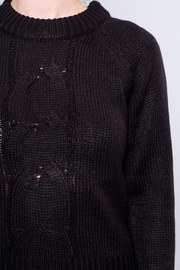 Noisy May Cropped Cableknit Sweater - Back cropped