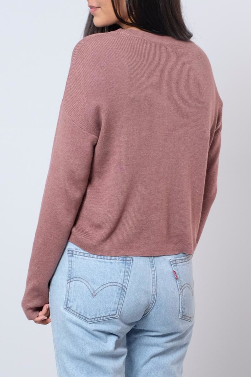 Noisy May O-Neck Cropped Pullover - Side Cropped Image