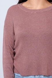 Noisy May O-Neck Cropped Pullover - Back cropped