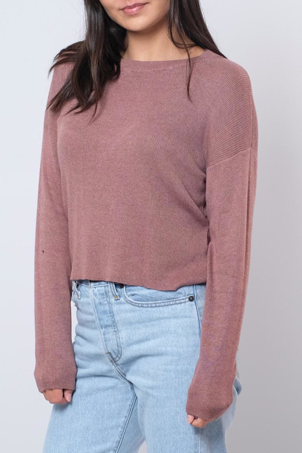 Noisy May O-Neck Cropped Pullover - Front Full Image