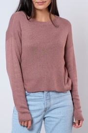 Noisy May O-Neck Cropped Pullover - Front cropped