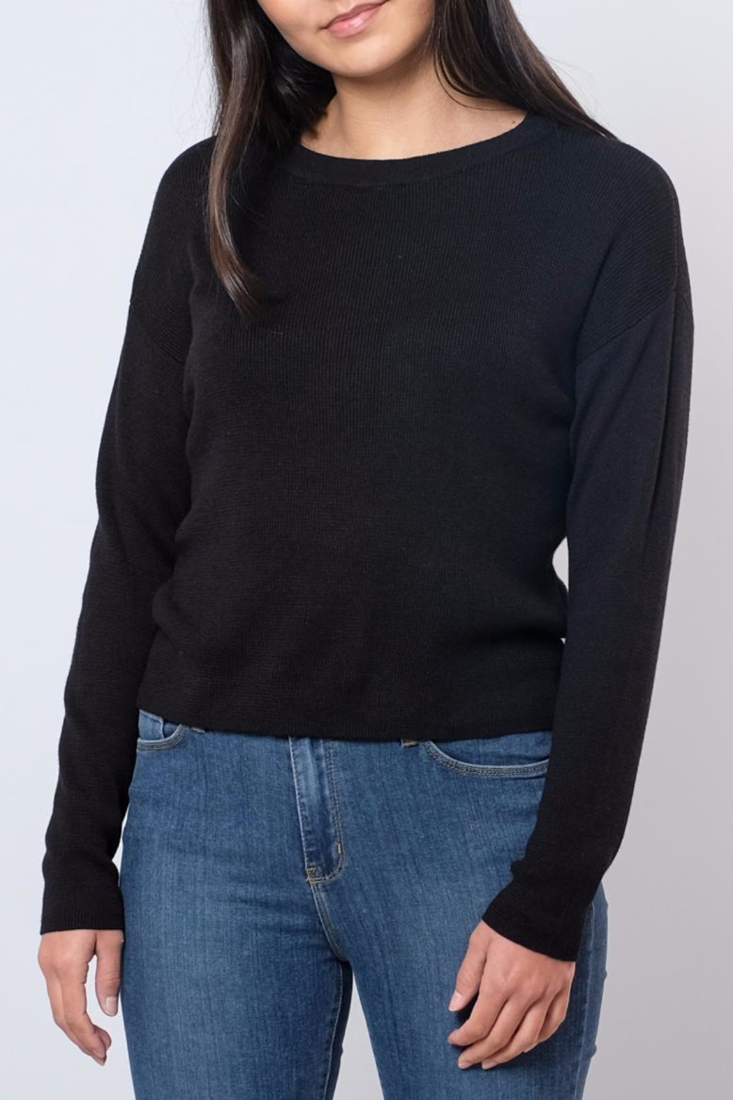 Noisy May O-Neck Cropped Pullover - Front Cropped Image