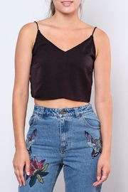 Noisy May Satin Crop Top - Product Mini Image