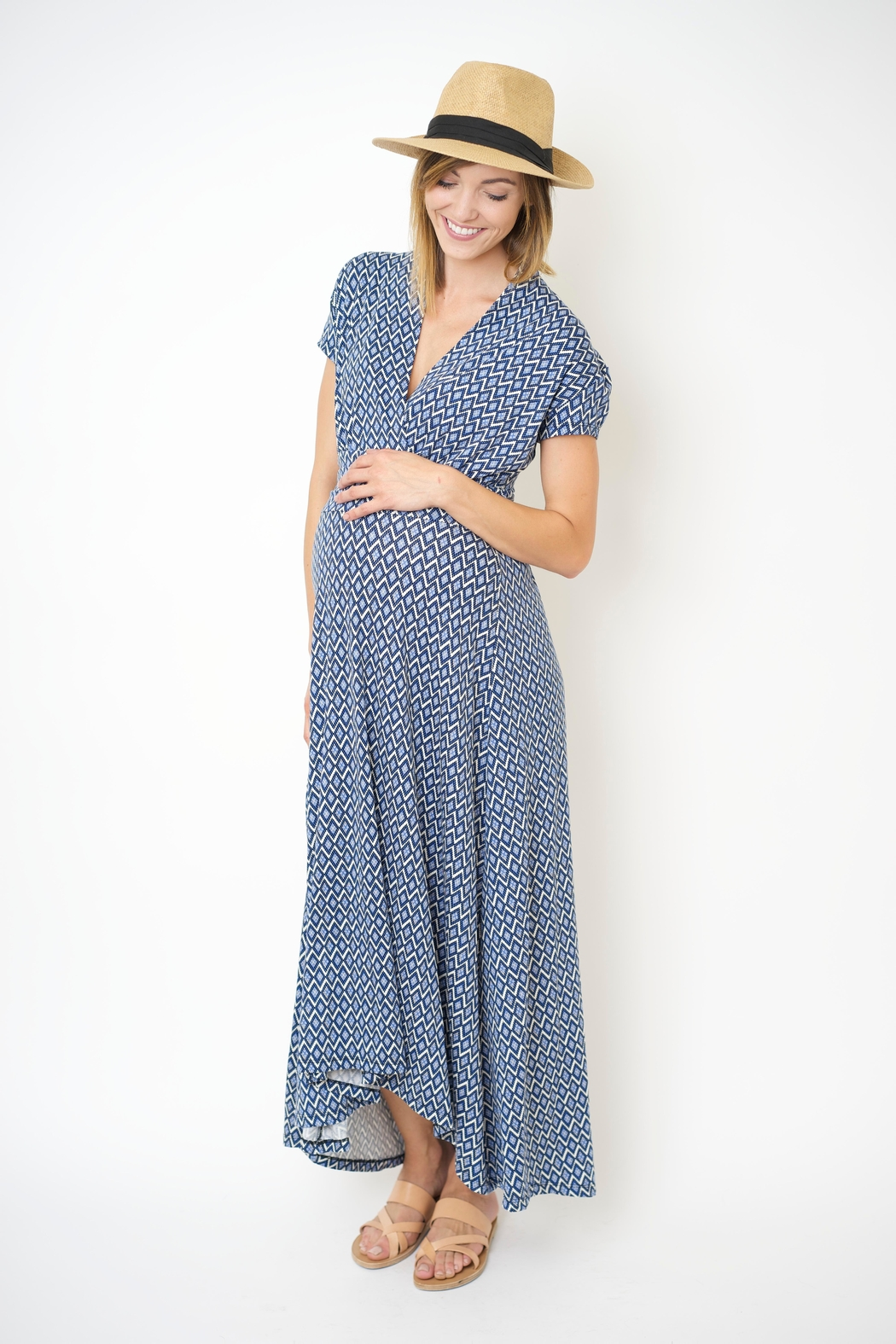 NOM Maternity Hi-Low Nursing Dress - Main Image