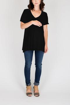 NOM Maternity Black Mimi Tee - Alternate List Image