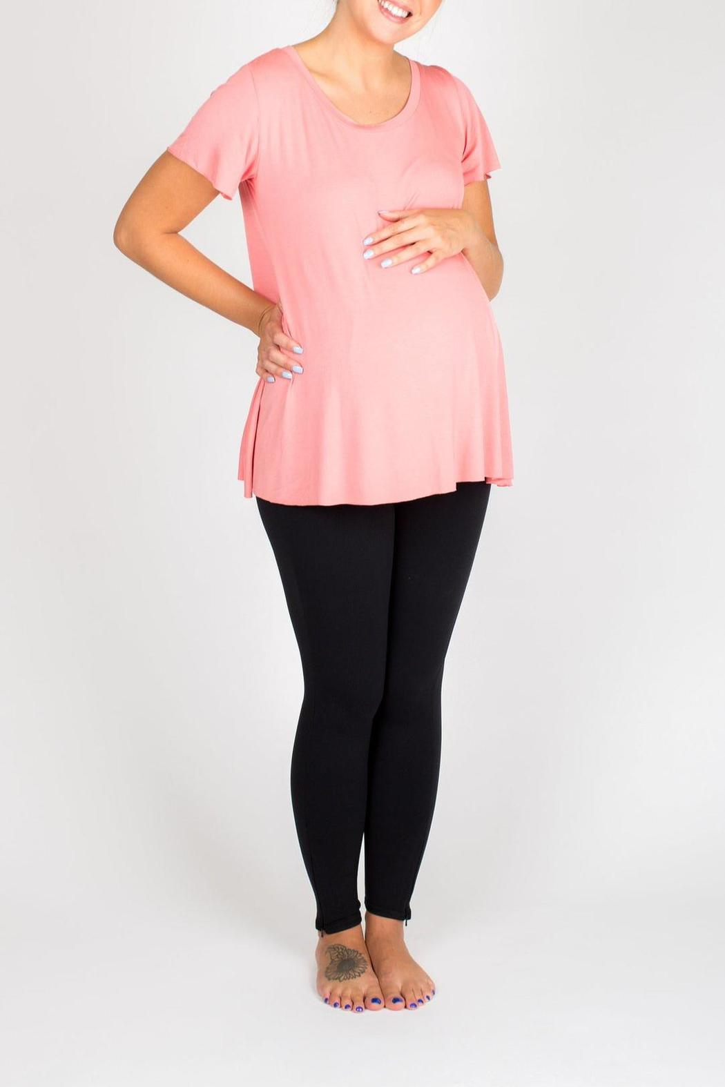 NOM Maternity Mimi Tee Rose - Front Cropped Image