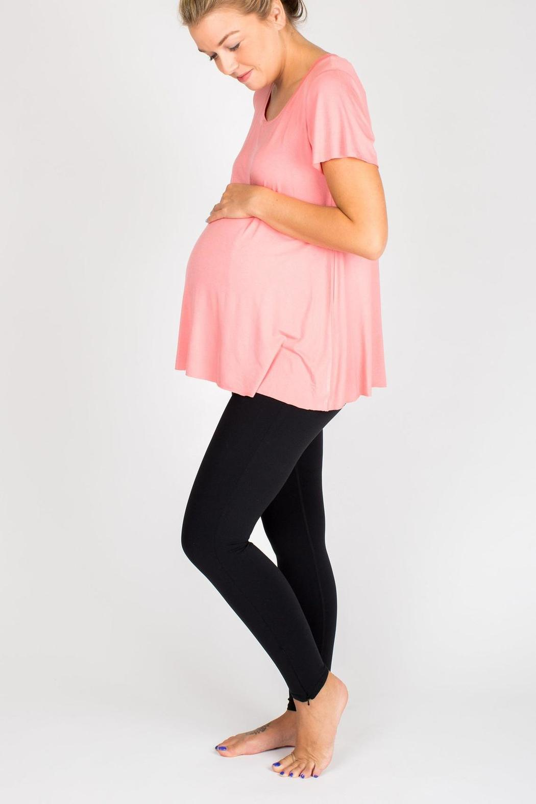 NOM Maternity Mimi Tee Rose - Front Full Image