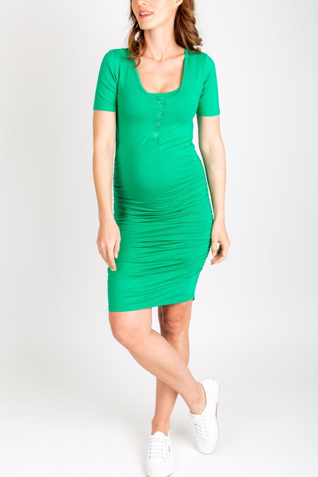 Nom maternity maternity and nursing dress from seattle by village nom maternity maternity and nursing dress front full image ombrellifo Gallery