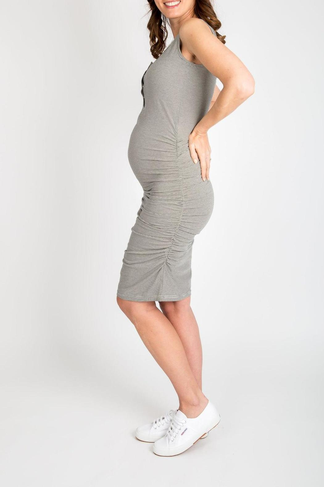 NOM Maternity Snap Tank Dress - Front Full Image