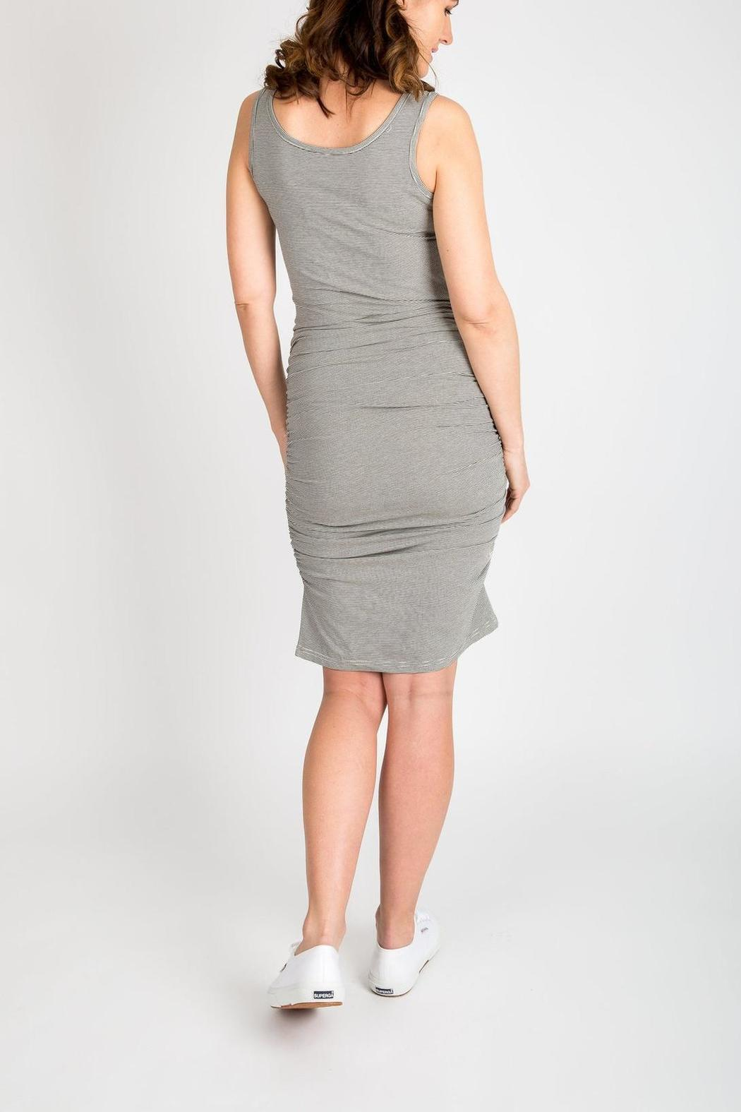 NOM Maternity Snap Tank Dress - Side Cropped Image