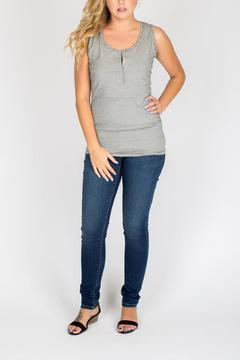 NOM Maternity Microstripe Nursing Top - Alternate List Image