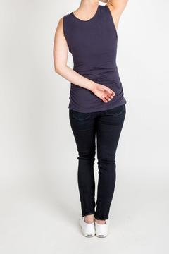 NOM Maternity Navy Nursing Tank Top - Alternate List Image