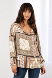 Lovestitch Nomad Patchwork Peasant Top - Product Mini Image