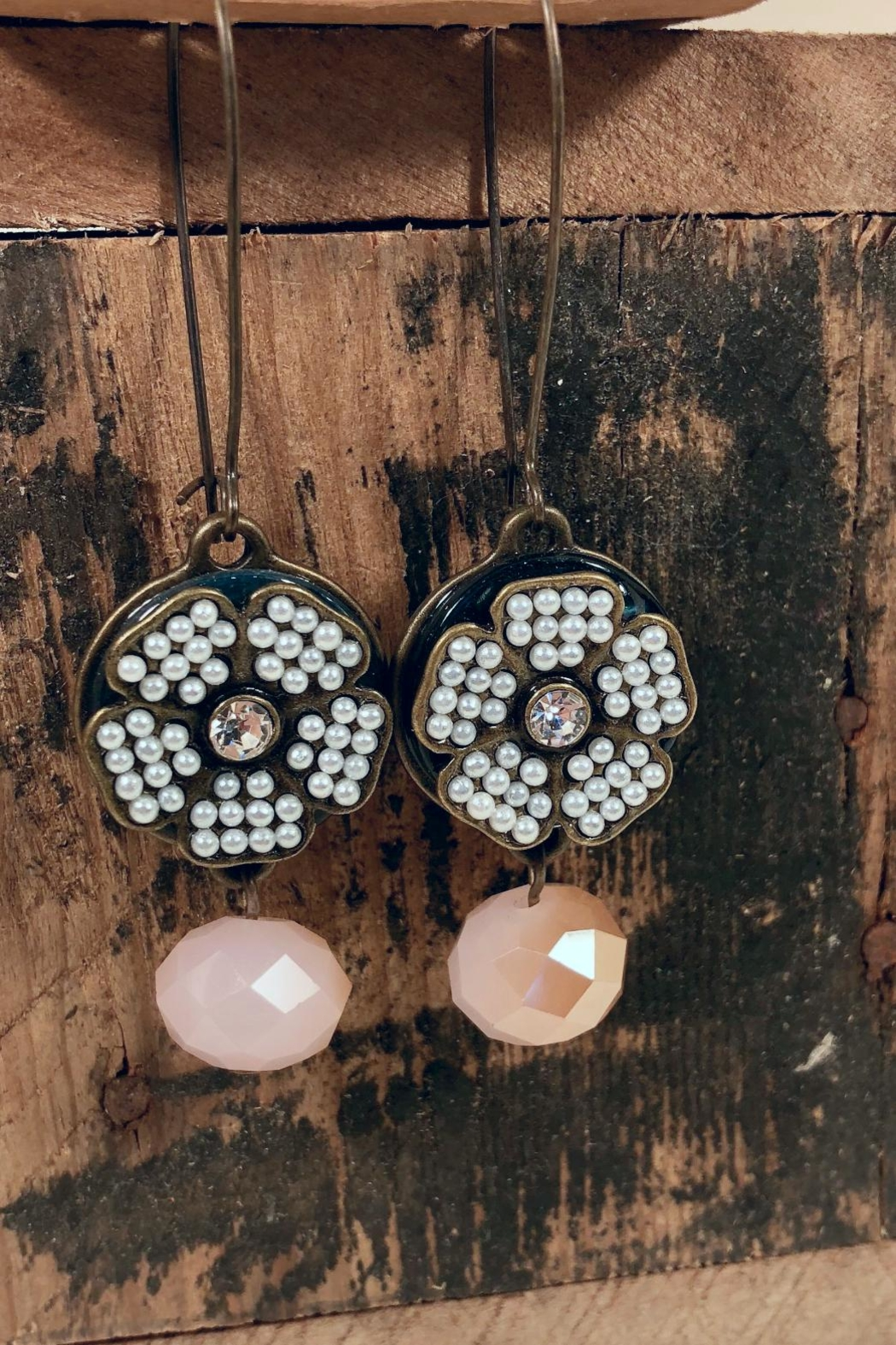 NONE Beaded Statement Earrings - Main Image