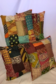 NONE Kantha Throw Pillows - Product Mini Image