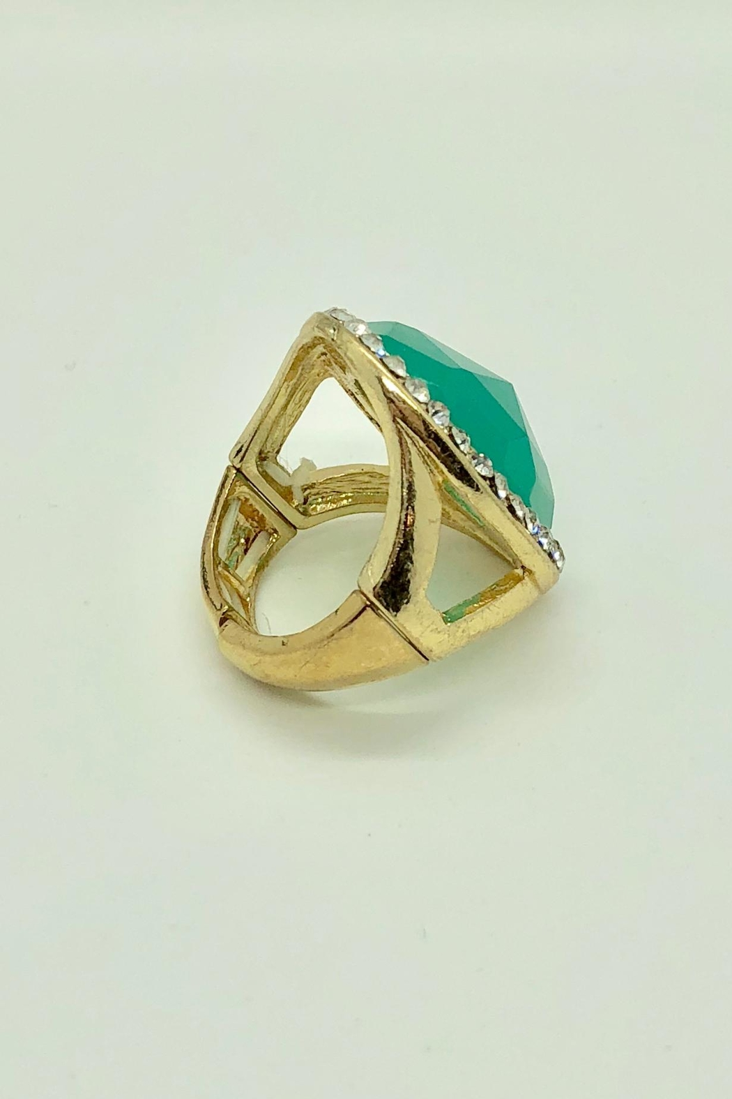 NONE Large Green Stone/cz - Front Full Image