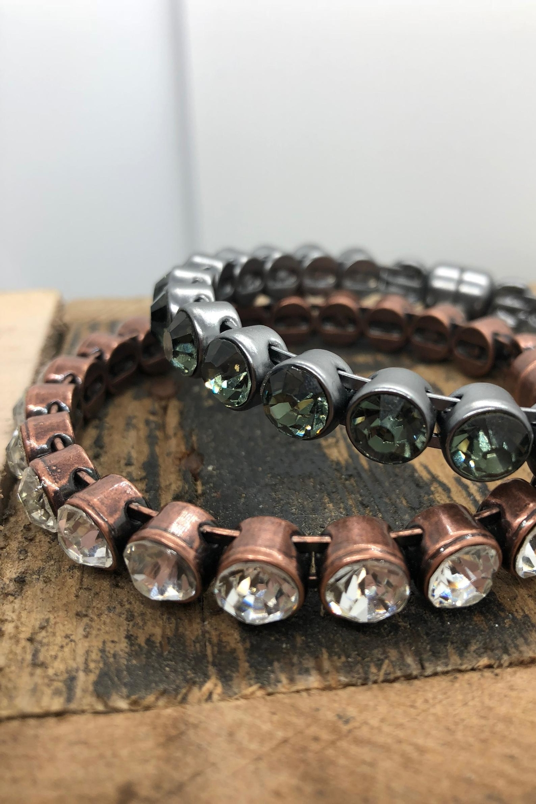 NONE Rose-Gold Crystal Bangle - Front Full Image