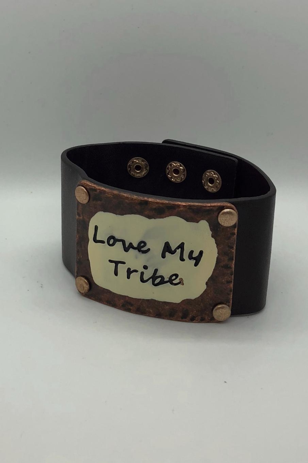 NONE Vegan Leather Cuff - Front Cropped Image
