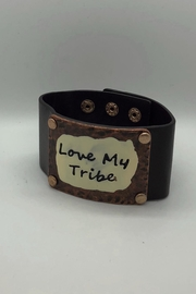 NONE Vegan Leather Cuff - Front cropped
