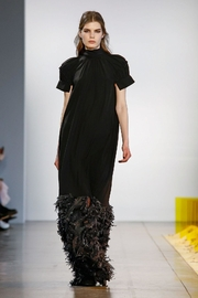 Noon Design Fillmore-Gathered Short-Sleeve Gown - Product Mini Image