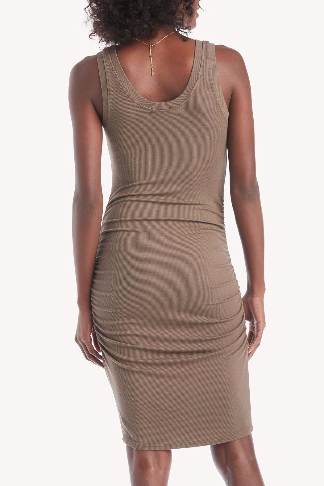 LA Made Nora Ribbed Dress - Front Full Image