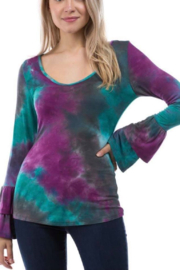 Vava Nora Ruffle Tie Dye Top - Product Mini Image