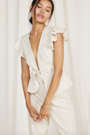 SAGE THE LABEL Norah Tie Front Top - Product Mini Image
