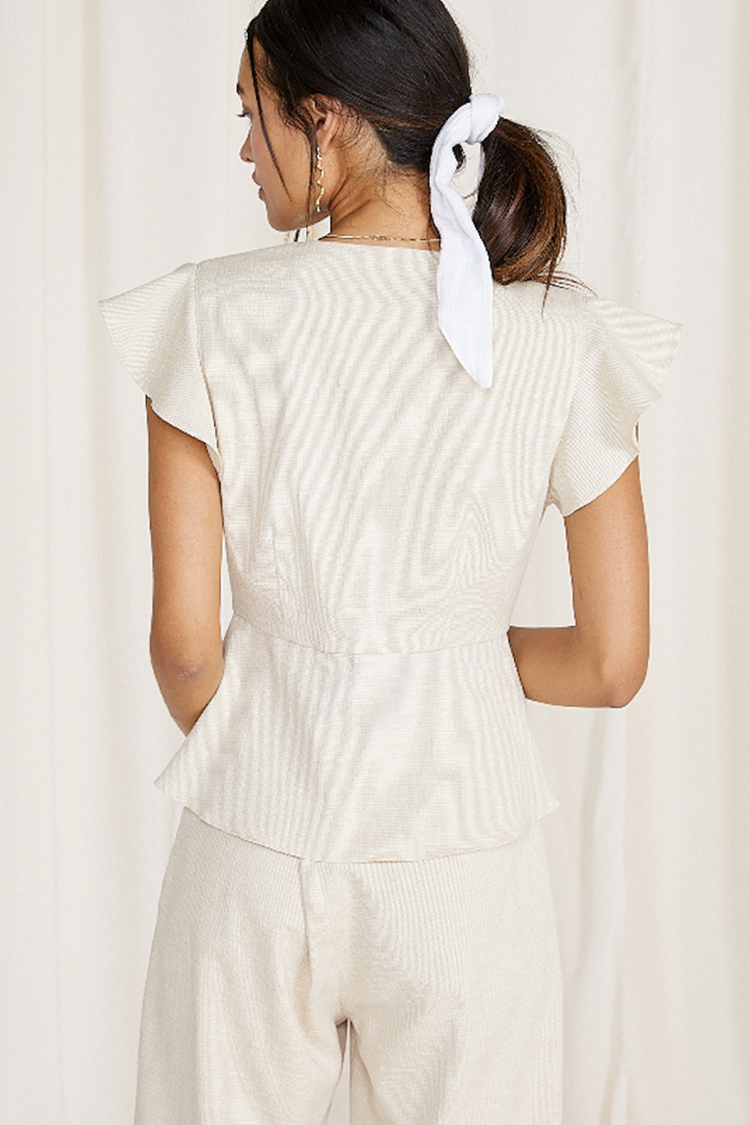 SAGE THE LABEL Norah Tie Front Top - Front Full Image