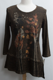 Jess & Jane Nordic Autumn Tunic Top - Front cropped