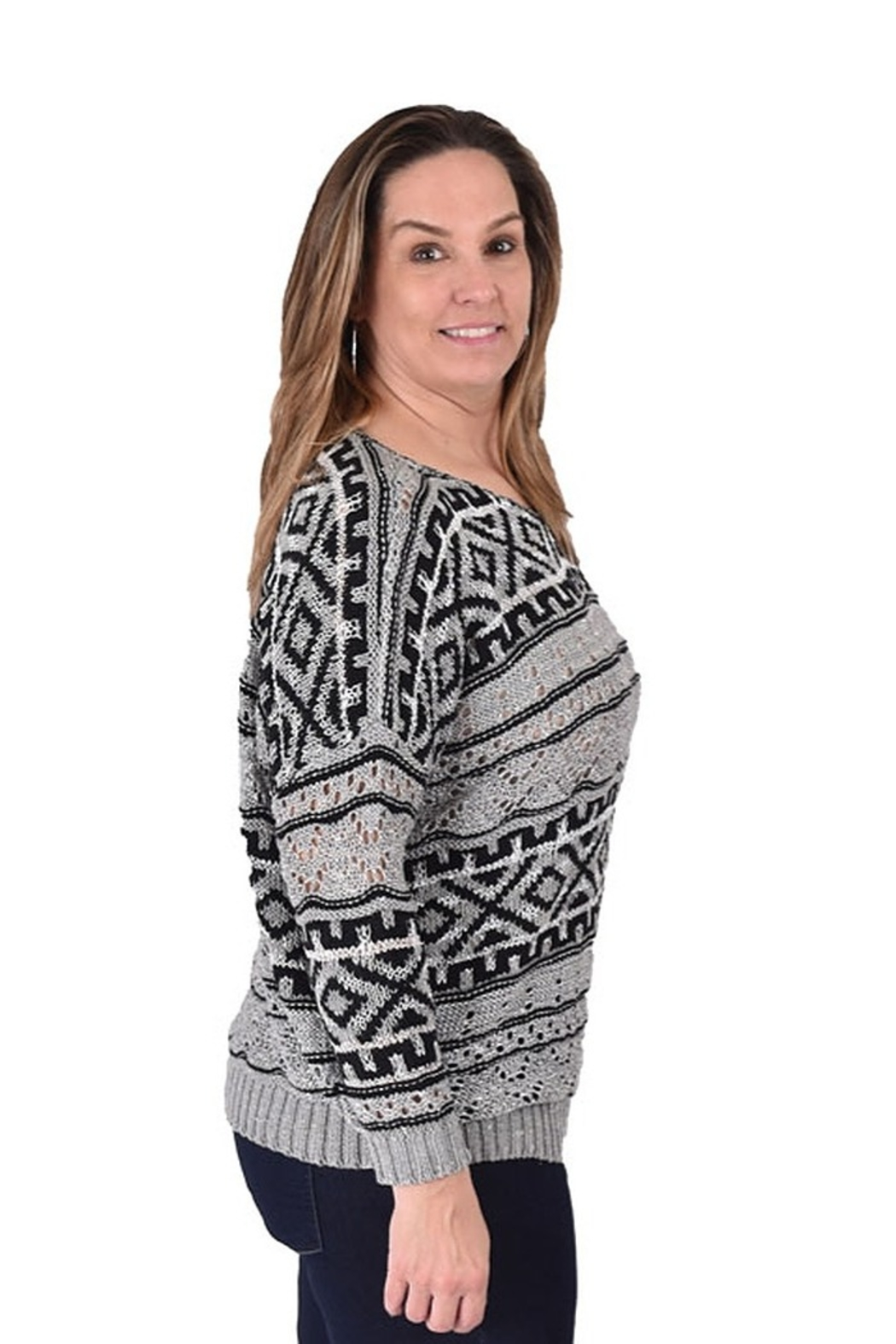 True Blue Clothing Nordic Bulky Sweater - Side Cropped Image