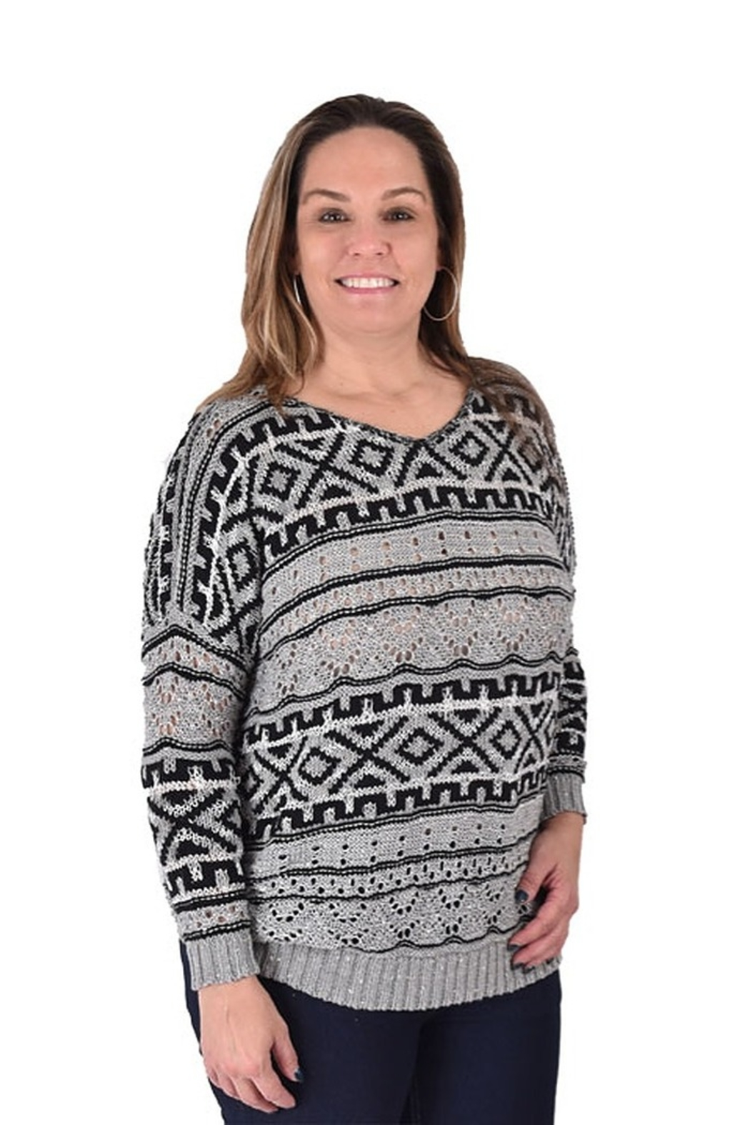 True Blue Clothing Nordic Bulky Sweater - Front Full Image