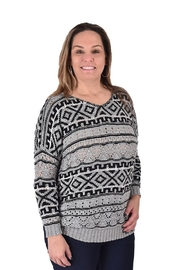 True Blue Clothing Nordic Bulky Sweater - Front cropped