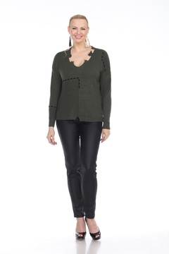 Shoptiques Product: Nori Distressed Whipstitch Sweater