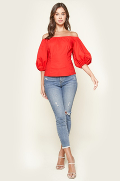 R+D  Nori Off The Shoulder Puff Sleeve Top - Alternate List Image