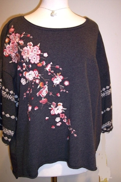 Johnny Was Collection Noriko Embroidered Sweatshirt - Product List Image