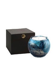 Northern Lights Artisan Globe Candle - Front cropped
